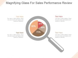 Magnifying Glass For Sales Performance Review Powerpoint Slide Themes