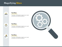 Magnifying Glass Gears H188 Ppt Powerpoint Presentation Professional Elements
