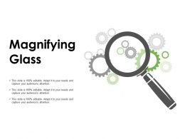 Magnifying Glass Gears Ppt Powerpoint Presentation Pictures Templates