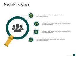 Magnifying Glass Gears Ppt Powerpoint Presentation Portfolio Shapes