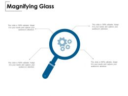 Magnifying Glass Gears Technology E150 Ppt Powerpoint Presentation Show Slides