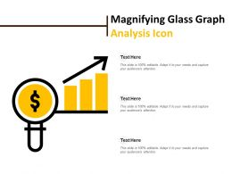 Magnifying Glass Graph Analysis Icon