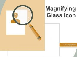 Magnifying Glass Icon Analysing Research Gear Dollar Research