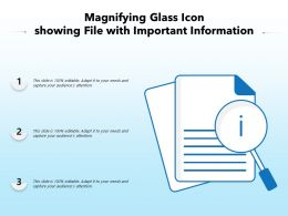 Magnifying Glass Icon Showing File With Important Information