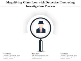 Magnifying Glass Icon With Detective Illustrating Investigation Process