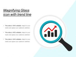 Magnifying Glass Icon With Trend Line