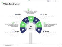 Magnifying Glass Mckinsey 7s Strategic Framework Project Management Ppt Portrait