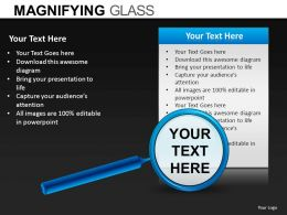 Magnifying Glass Powerpoint Presentation Slides DB