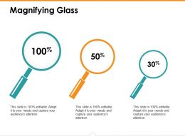 Magnifying Glass Ppt Gallery Layout Ideas