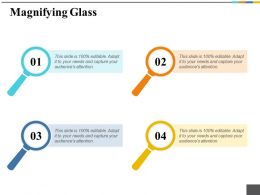 Magnifying Glass Ppt Icon Slideshow