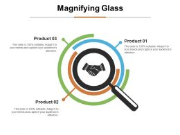 Magnifying Glass Ppt Infographic Template Graphics Design