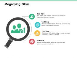 Magnifying Glass Ppt Infographics Ideas