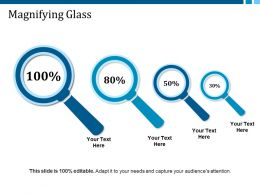 Magnifying Glass Ppt Layouts Infographics