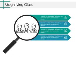 Magnifying Glass Ppt Model Portrait