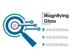 Magnifying Glass Ppt Outline Infographics