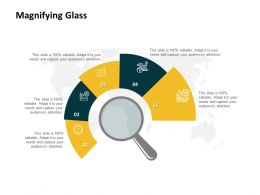 Magnifying Glass Ppt Powerpoint Presentation Gallery Vector