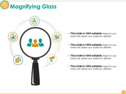 Magnifying Glass Ppt Slides Background Image