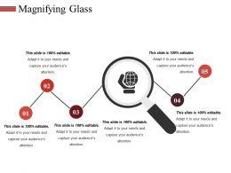 Magnifying Glass Ppt Slides Grid