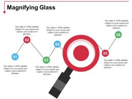 Magnifying Glass Ppt Summary Display