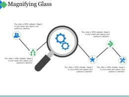 Magnifying Glass Ppt Summary Influencers
