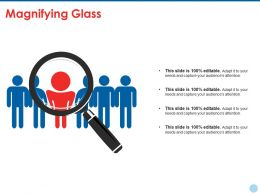 Magnifying Glass Ppt Summary Infographic Template