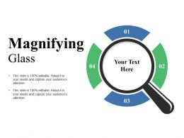 Magnifying Glass Ppt Visual Aids Background Images