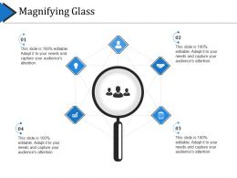 Magnifying Glass Ppt Visual Aids Files