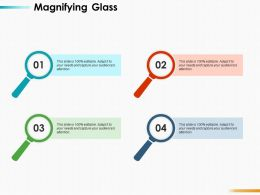 Magnifying Glass Research Ppt Infographics Design Inspiration