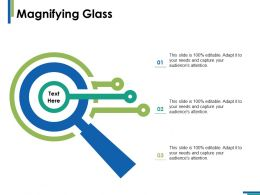 Magnifying Glass Research Ppt Infographics Example Introduction