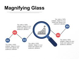 Magnifying Glass Research Ppt Professional Demonstration