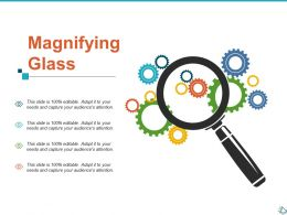 Magnifying Glass Research Ppt Show Infographic Template
