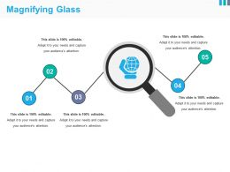 Magnifying Glass Sample Of Ppt Presentation