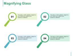 Magnifying Glass Segmentation Targeting And Positioning With Four Magnify Glass