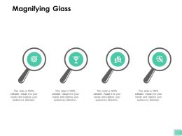 Magnifying Glass Technology Development Ppt Powerpoint Presentation Inspiration Brochure