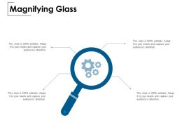 Magnifying Glass Technology Gear C839 Ppt Powerpoint Presentation File Styles