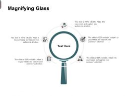 Magnifying Glass Technology Marketing C233 Ppt Powerpoint Presentation Slides Infographic Template