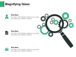 Magnifying Glass Technology Testing E404 Ppt Powerpoint Presentation Show Summary