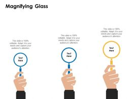 Magnifying Glass Testing Technology C357 Ppt Powerpoint Presentation Template