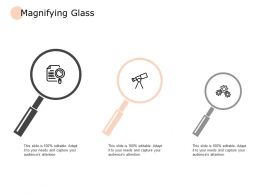 Magnifying Glass Vision Gears Ppt Powerpoint Presentation Pictures Graphics