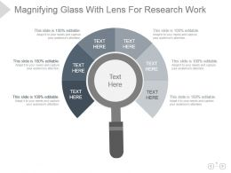Magnifying Glass With Lens For Research Work Presentation Diagram