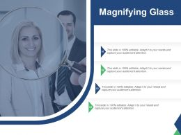 Magnifying Glass With Project Management Strategy