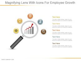 Magnifying Lens With Icons For Employee Growth Ppt Icon