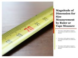 Magnitude Of Dimension For Size Measurement By Ruler Or Tape Measure