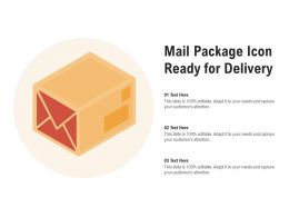 Mail Package Icon Ready For Delivery