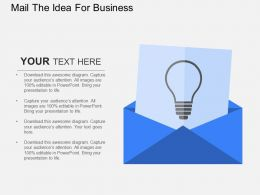 Mail The Idea For Business Flat Powerpoint Design