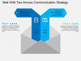 Mail With Two Arrows Communication Strategy Flat Powerpoint Design