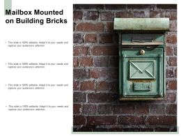 Mailbox Mounted On Building Bricks