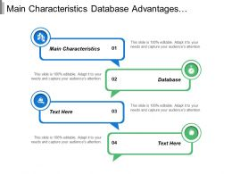 Main Characteristics Database Advantages Explanation Fundamental Basic Definition