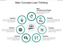 Main Concepts Lean Thinking Ppt Powerpoint Presentation Picture Cpb