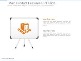 Main Product Features Ppt Slide